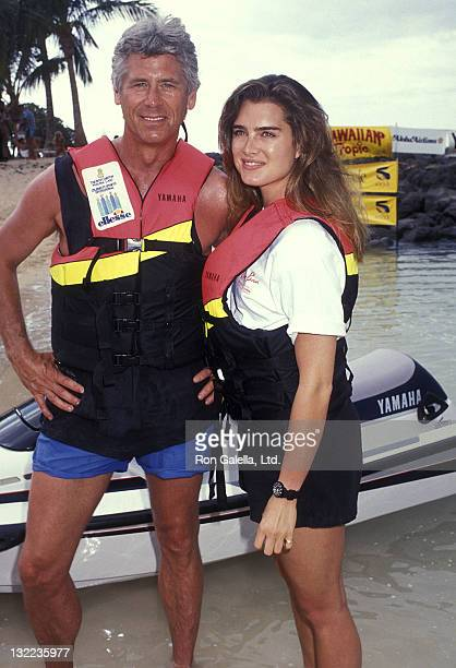 Actor Barry Bostwick and actress Brooke Shields attend the Ritz-Carlton Mauna Lana Celebrity Sports Invitational - Yamaha WaveRunner Practice Day on...