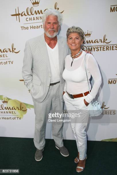 Actor Barry Bostwick and guest attend the Hallmark Channel and Hallmark Movies and Mysteries 2017 Summer TCA Tour on July 27 2017 in Beverly Hills...