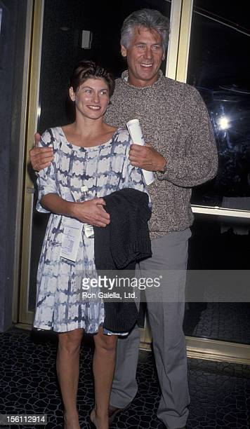 Actor Barry Bostwick and wife Sherri Jensen attending the opening of 'Marvin Room' on September 22 1994 at the Tiffany Theater in West Hollywood...