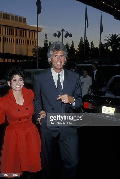 Actor Barry Bostwick and wife Stacey Nelkin attending 'ABC TV Affiliates Party' on June 8 1988 at the Century Plaza Hotel in Century City California
