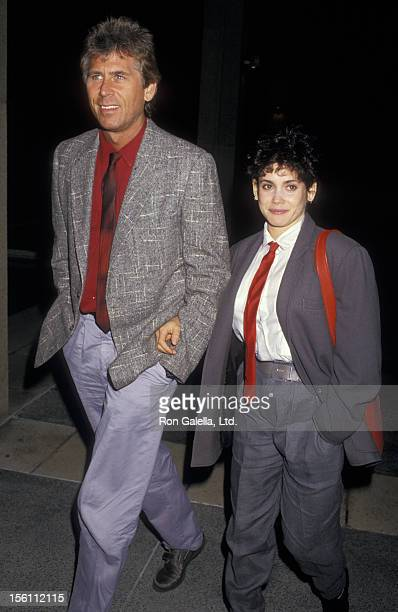 Actor Barry Bostwick and wife Stacey Nelkin attending the opening of 'Light Up The Sky' on March 8 1987 at the Ahmanson Theater in Los Angeles...