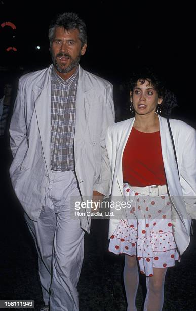 Actor Barry Bostwick and wife Stacey Nelkin attending the premiere of 'Dragnet' on June 24 1987 at the Paramount Theater in Hollywood California