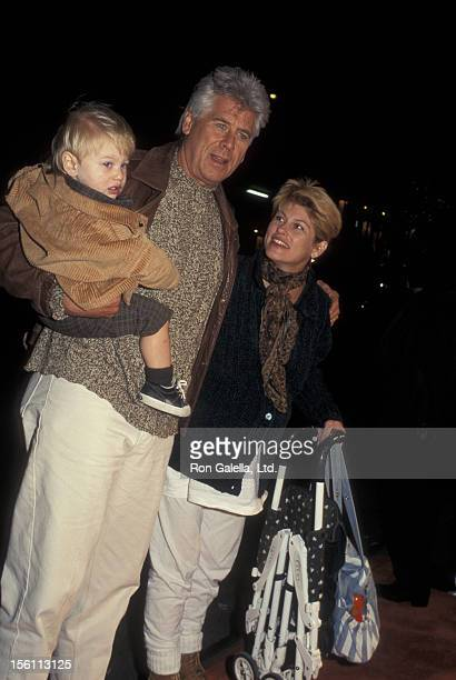 Actor Barry Bostwick wife Sherri Jensen and son Brian Bostwick attending the launch party for 'James And The Giant Peach' on October 3 1996 at...