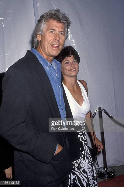 Actor Barry Boswick and wife Sherri Jensen attending the world premiere of 'Rising Sun' on July 28 1993 at the Academy Theater in Beverly Hills...