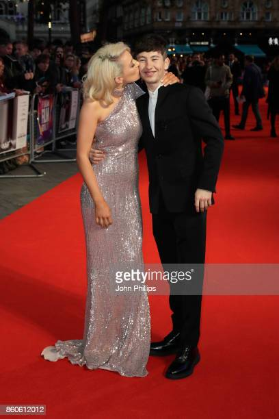 Actor Barry Keoghan and girlfriend Shona Guerin attend the Headline Gala Screening UK Premiere of Killing of a Sacred Deer during the 61st BFI London...