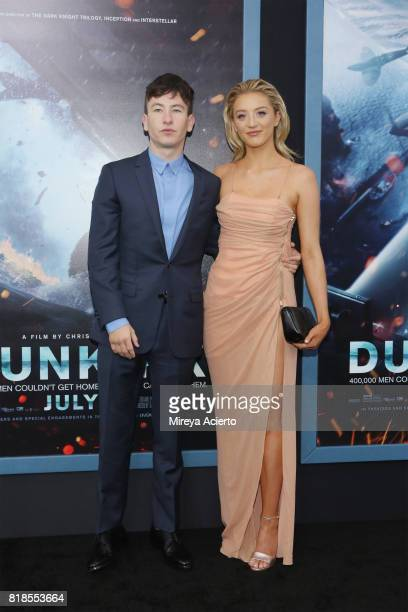 Actor Barry Keoghan and Shona Guerin attend the 'DUNKIRK' New York Premiere on July 18 2017 in New York City