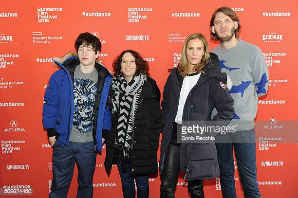 Actor Barry Keoghan director Rebecca Daly actress Rachel Griffiths and Sundance Film Festival Senior Programmer Charlie Reff attends the 'Mammal'...