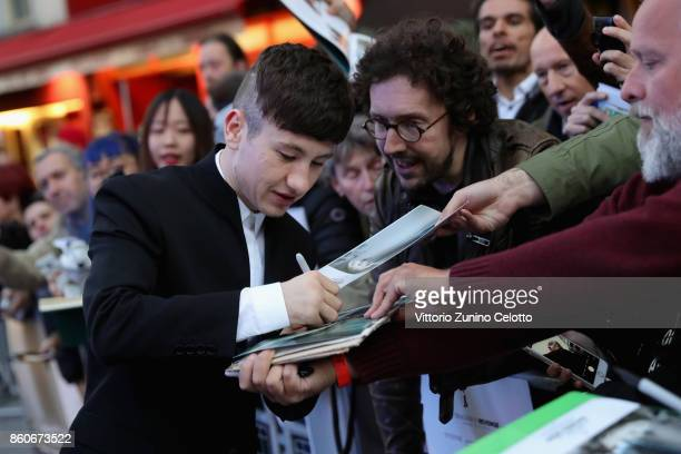 Actor Barry Keoghan signs autographs for fans as he attends the Headline Gala Screening UK Premiere of 'Killing of a Sacred Deer' during the 61st BFI...