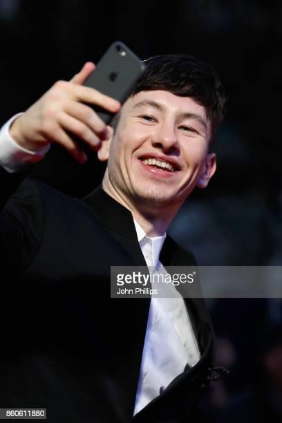 Actor Barry Keoghan takes a selfie on the red carpet as he attends the Headline Gala Screening UK Premiere of 'Killing of a Sacred Deer' during the...