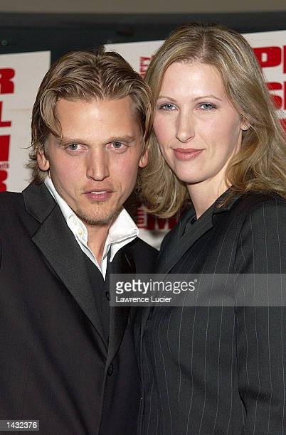 """Actor Barry Pepper and his wife, Cindy, attend the premiere of """"Knockaround Guys"""" on September 25 in New York City."""