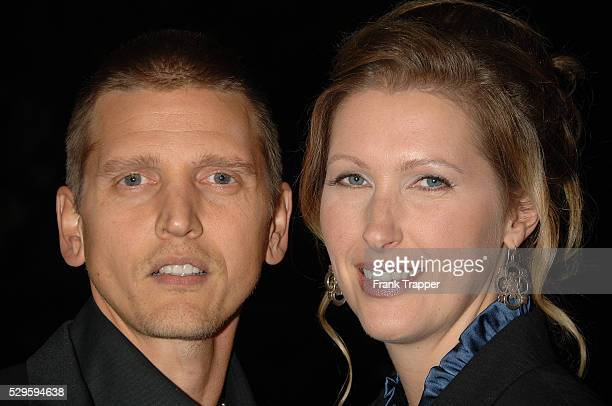 Actor Barry Pepper and wife Cindy arrive at the premiere of Flags of Our Fathers held at the Academy of Motion Picture Arts and Sciences in Beverly...