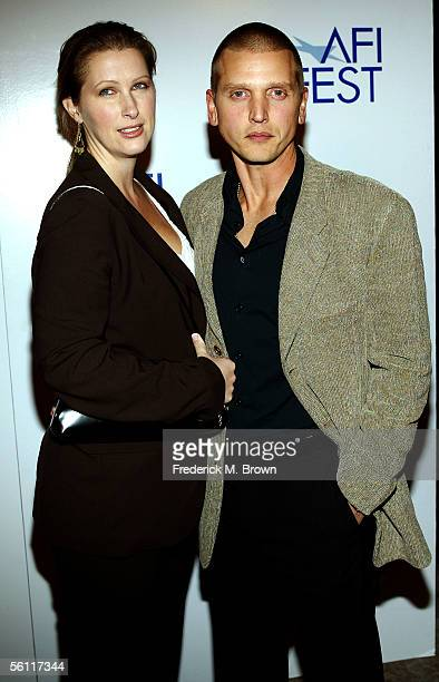 Actor Barry Pepper and wife Cindy guest at the screening of Three Burials Of Melquiades Estrada during AFI Fest presented by Audi at the Egyptian...