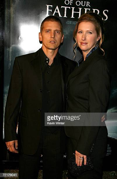 Actor Barry Pepper and wife Cindy Pepper arrive at the Paramount Pictures premiere of Flags Of Our Fathers held at the Academy of Motion Picture Arts...