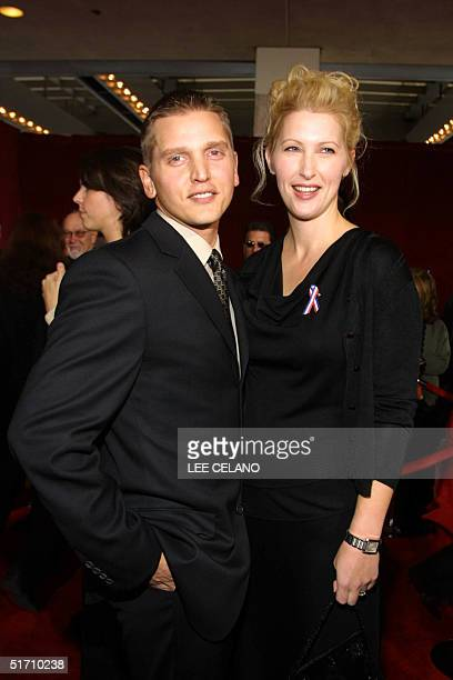 Actor Barry Pepper and wife Cindy pose for photographers upon their arrival at the 53rd Emmy Awards show in Los Angeles California 04 November 2001...
