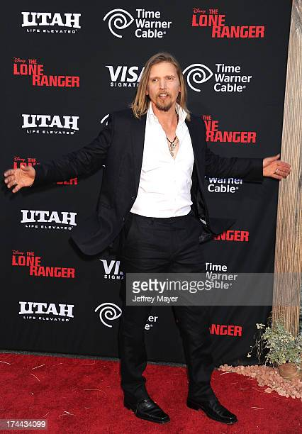 Actor Barry Pepper arrives at 'The Lone Ranger' World Premiere at Disney's California Adventure on June 22 2013 in Anaheim California