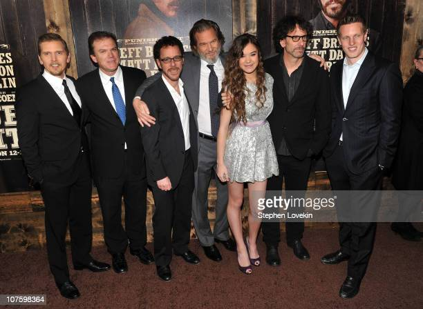 Actor Barry Pepper Chairman and Chief Executive Officer of Paramount Brad Grey director Ethan Coen actors Jeff Bridges Hailee Steinfeld director Joel...