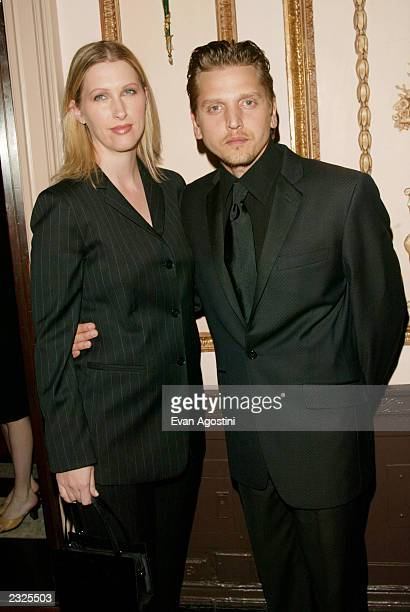 Actor Barry Pepper with wife Cindy at the 3rd Annual Directors Guild Of America Honors at the WaldorfAstoria in New York City June 9 2002 Photo Evan...
