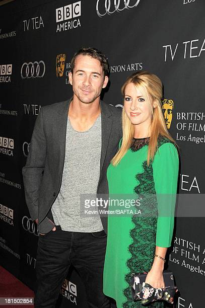 Actor Barry Sloane and Katy O'Grady attend the BAFTA LA TV Tea 2013 presented by BBC America and Audi held at the SLS Hotel on September 21 2013 in...