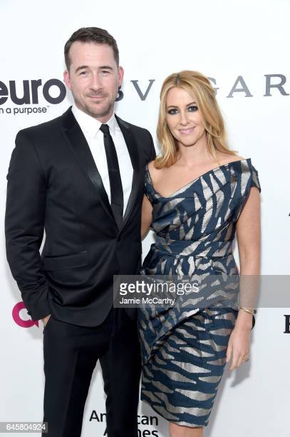 Actor Barry Sloane and Katy Sloane attend the 25th Annual Elton John AIDS Foundation's Academy Awards Viewing Party at The City of West Hollywood...