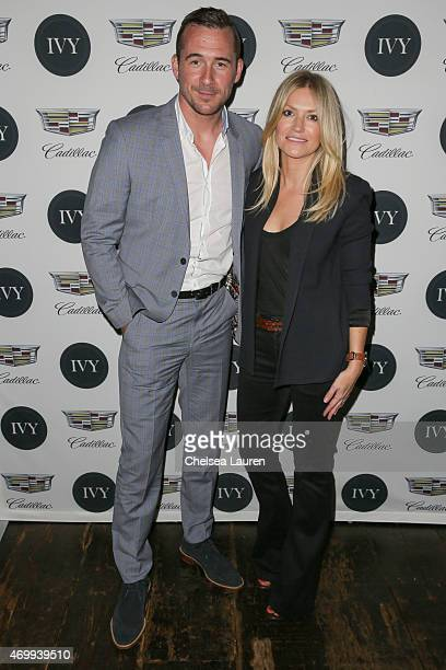 Actor Barry Sloane and Shinola West Coast ambassador Megan Reiser attend the IVY Los Angeles innovator dinner presented by Cadillac and IVY at AOC on...