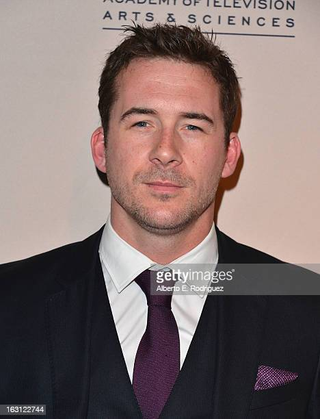 Actor Barry Sloane arrives to the Academy of Television Arts and Sciences' An Evening with Revenge at Leonard H Goldenson Theatre on March 4 2013 in...