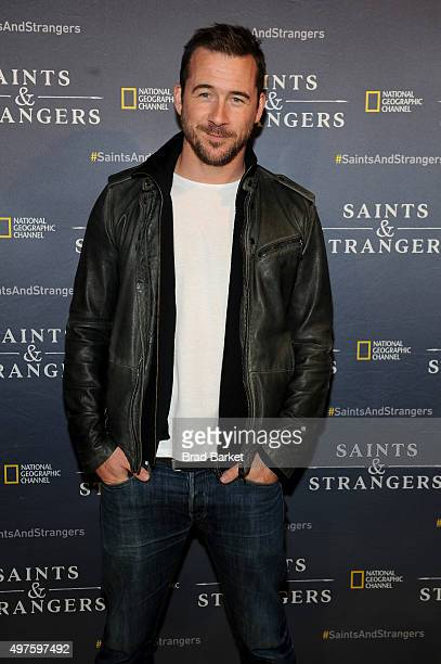 Actor Barry Sloane attends National Geographic Channel's Saints Strangers Pub 1620 Opening Event at Flatiron Hall on November 17 2015 in New York City