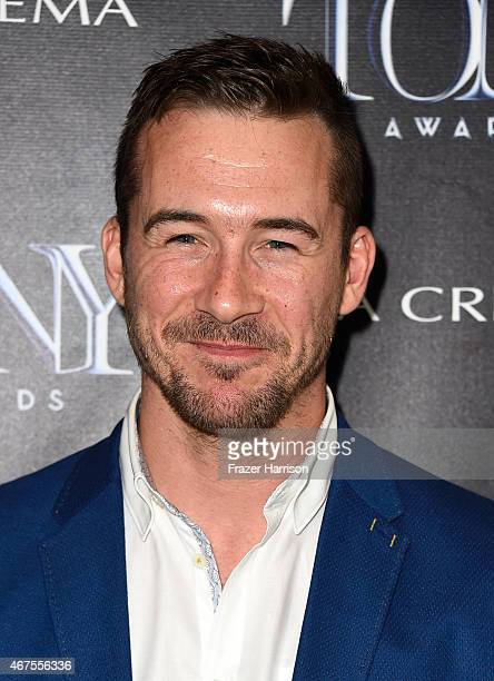 Actor Barry Sloane attends The Tony Awards celebration of Broadway in Hollywood at Sunset Towers on March 25 2015 in West Hollywood California