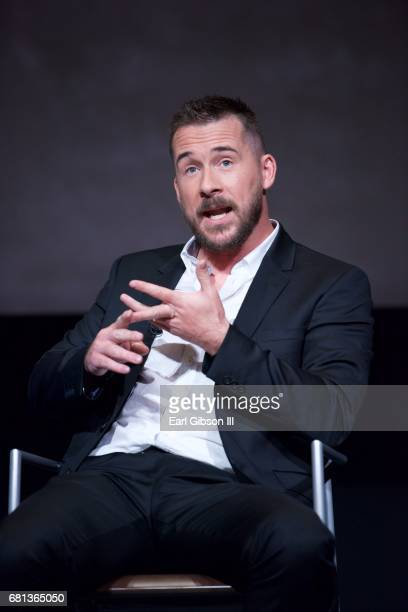 Actor Barry Sloane speaks onstage at the FYC Event for HISTORY's SIX at Wolf Theatre on May 9 2017 in North Hollywood California