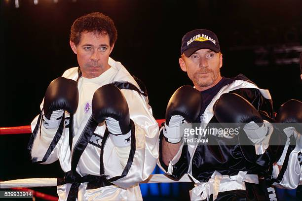 Actor Barry Williams and his opponent actor Danny Bonaduce square off at the official weigh-in for Celebrity Boxing. The televison show will air...