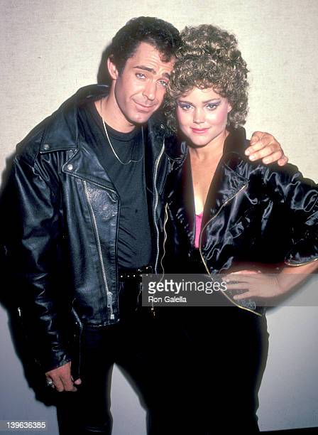 Actor Barry Williams and musician Belinda Carlisle of The GoGo's attend the Grease Opening Night Performance on May 26 1983 at Long Beach Civic Light...