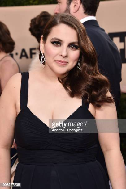 Actor Beanie Feldstein attends the 24th Annual Screen Actors Guild Awards at The Shrine Auditorium on January 21 2018 in Los Angeles California...