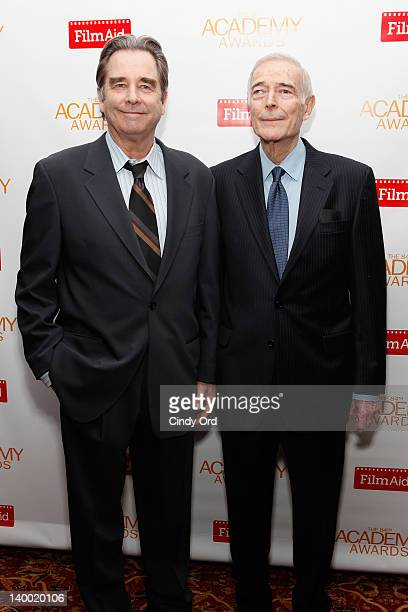 Actor Beau Bridges and Bud Rosenthal attend the 2012 Academy of Motion Picture Arts and Sciences Oscar Night Celebration at the 21 Club on February...