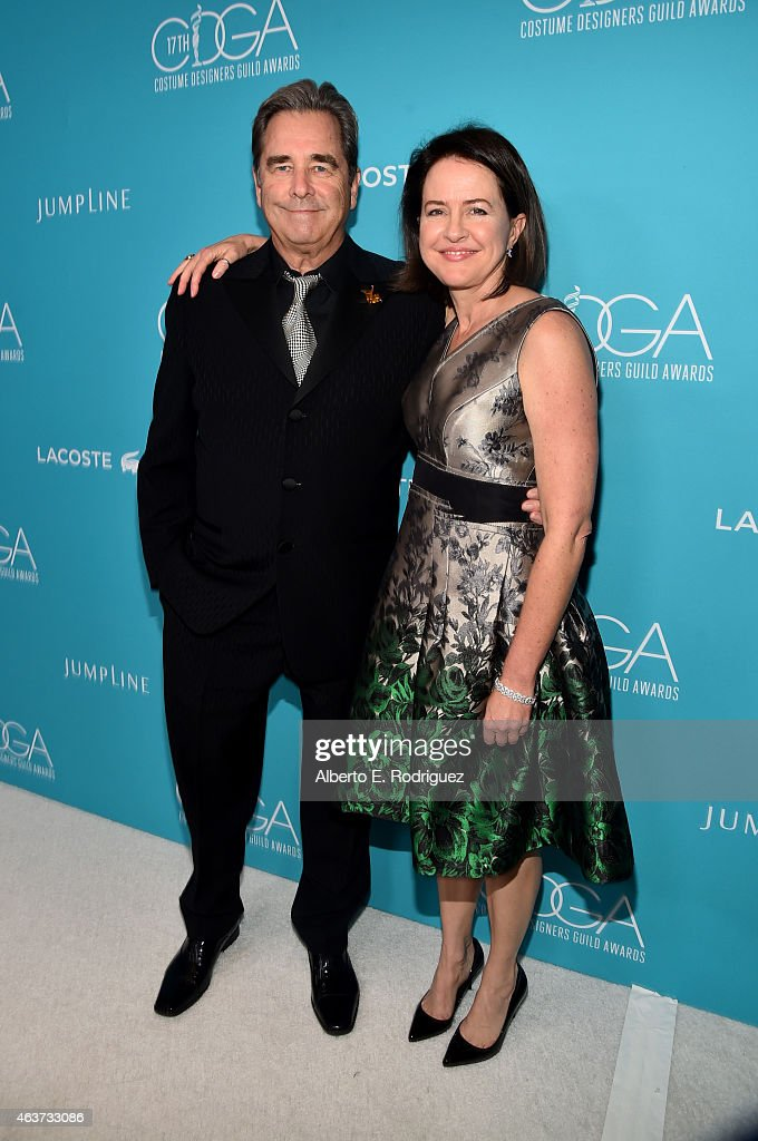 Actor Beau Bridges (L) and producer/writer Michelle Ashford attend the 17th Costume Designers Guild Awards with presenting sponsor Lacoste at The Beverly Hilton Hotel on February 17, 2015 in Beverly Hills, California.