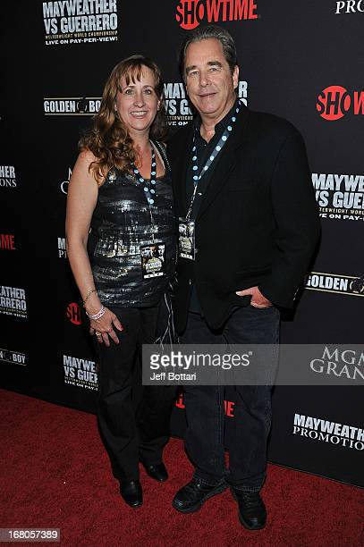 Actor Beau Bridges and wife Wendy arrive at a VIP prefight party at the WBC welterweight title fight between Floyd Mayweather Jr and Robert Guerrero...