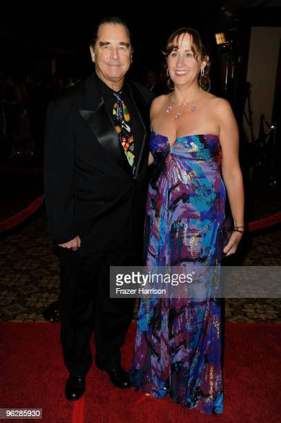 Actor Beau Bridges and wife Wendy Treece arrive at the 62nd Annual Directors Guild Of America Awards at the Hyatt Regency Century Plaza on January 30...