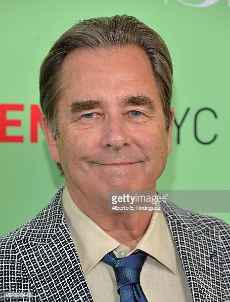 Actor Beau Bridges arrives to an exclusive conversation with the cast of Showtime's Masters Of Sex at Leonard H Goldenson Theatre on April 29 2014 in...