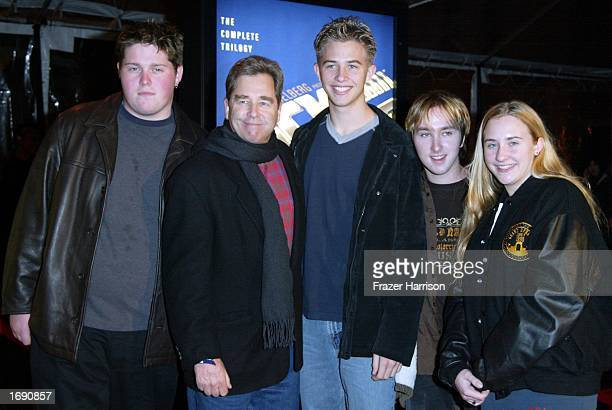 Actor Beau Bridges with family and friends Lee Boxleitner son Dylan Michael Halding and daughter Emily who attended the launch party of the 'Back to...