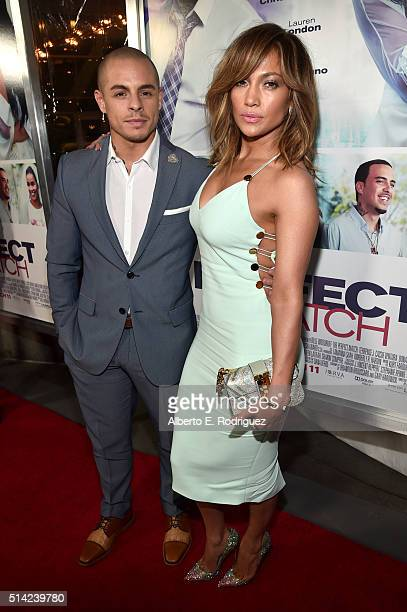 Actor Beau Casper Smart and actress/singer Jennifer Lopez attend the premiere of Lionsgate's 'The Perfect Match' at ArcLight Hollywood on March 7...
