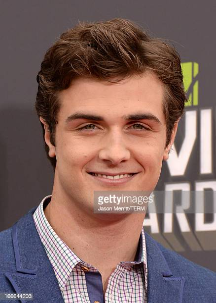 Actor Beau Mirchoff arrives at the 2013 MTV Movie Awards at Sony Pictures Studios on April 14 2013 in Culver City California