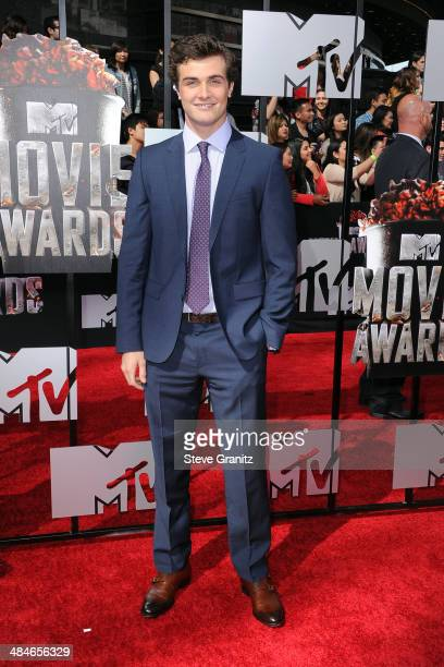 Actor Beau Mirchoff attends the 2014 MTV Movie Awards at Nokia Theatre LA Live on April 13 2014 in Los Angeles California