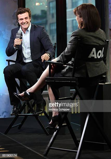 Actor Beau Mirchoff speaks with Entertainment editorial director at AOL Donna Freydkin at Actor Beau Mirchoff of Awkward Visits AOL Build at AOL on...