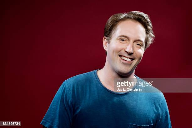 Actor Beck Bennett from the television series DuckTales is photographed in the LA Times photo studio at ComicCon 2017 in San Diego CA on July 21 2017...