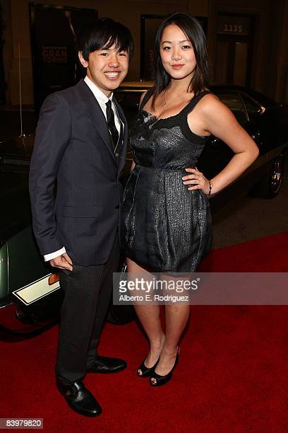 Actor Bee Vang and actress Ahney Her arrive at the world premiere of Warner Bros Pictures' Gran Torino held at the Warner Bros' Steven Ross theater...