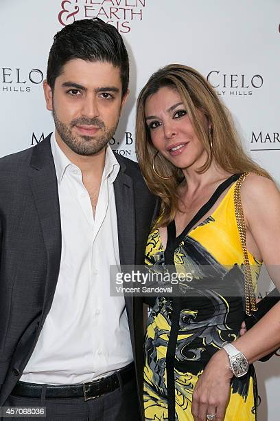 Actor Beejan Land and Ellie Tavakoli attend the Heaven and Earth Oasis Charity fundraiser at Il Cielo on October 11 2014 in Beverly Hills California