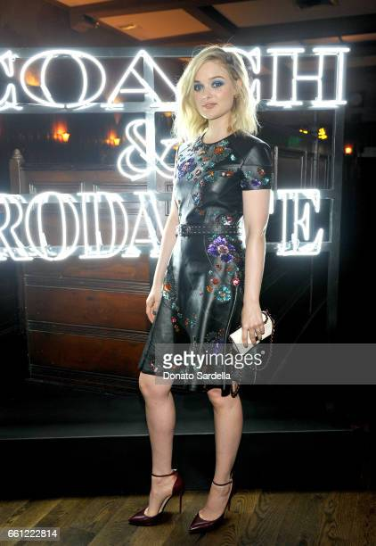 Actor Bella Heathcote attends the Coach Rodarte celebration for their Spring 2017 Collaboration at Musso Frank on March 30 2017 in Hollywood...