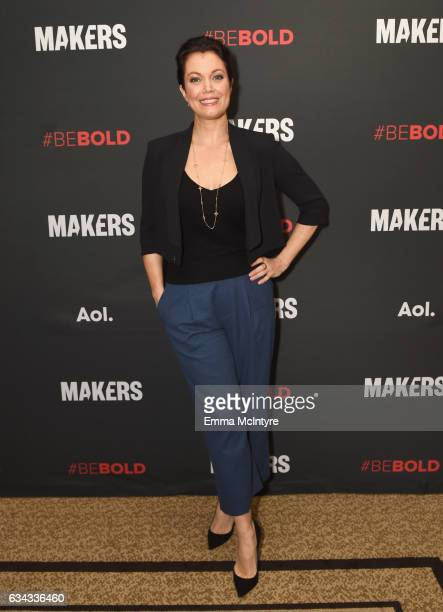 Actor Bellamy Young attends The 2017 MAKERS Conference Day 3 at Terranea Resort on February 8 2017 in Rancho Palos Verdes California