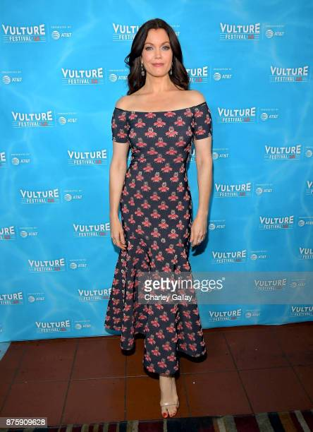 Actor Bellamy Young attends the 'Scandal The Final Season' panel during Vulture Festival LA Presented by ATT at Hollywood Roosevelt Hotel on November...