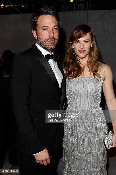 Actor Ben Affleck and actress Jennifer Garner attend the 2014 Vanity Fair Oscar Party Hosted By Graydon Carter on March 2, 2014 in West Hollywood,...