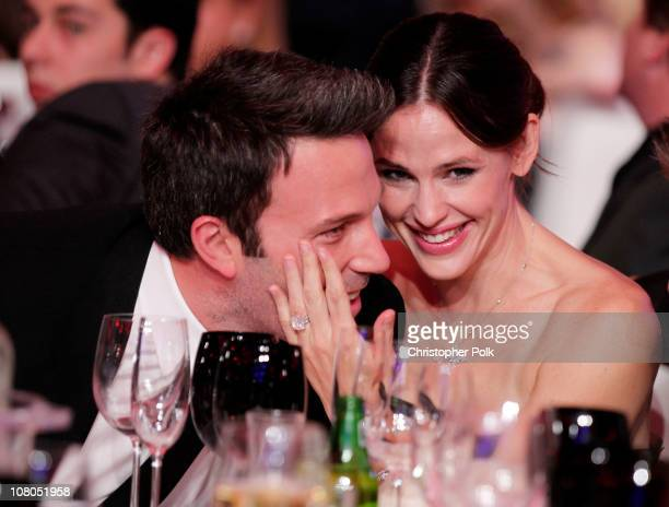 Actor Ben Affleck and actress Jennifer Garner pose during the 16th annual Critics' Choice Movie Awards at the Hollywood Palladium on January 14 2011...