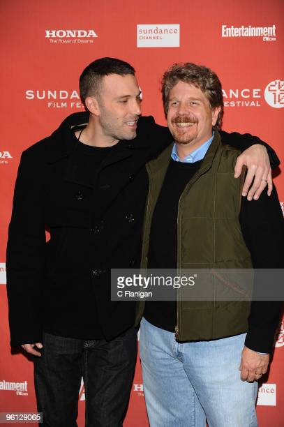 Actor Ben Affleck and Director John Wells attend 'The Company Men' Premiere during the 2010 Sundance Film Festival at Eccles Center Theatre on...